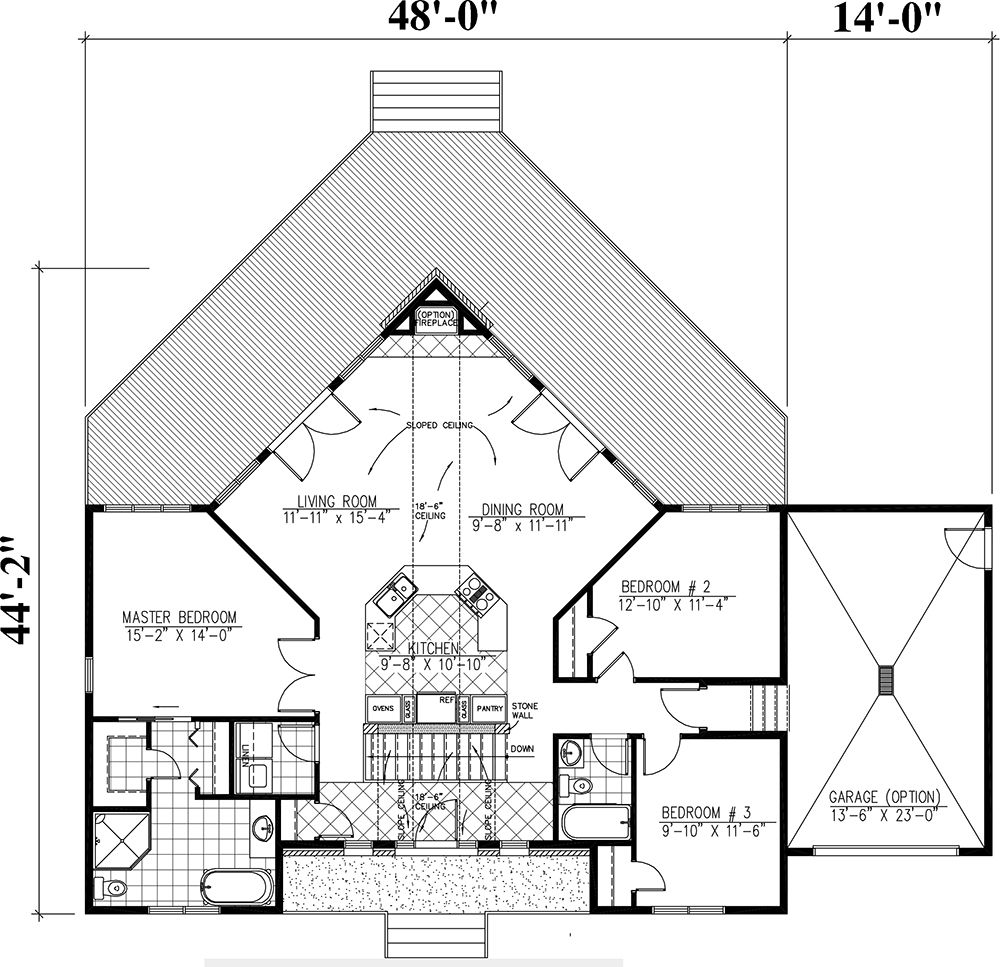House Plan 1785 00171 Cottage Plan 1 501 Square Feet 3 Bedrooms 2 Bathrooms In 2021 Cottage Plan A Frame House Plans Vacation House Plans