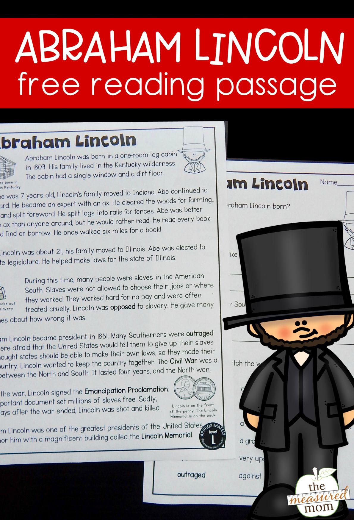 7 Reading Street Abe Lincoln Worksheet
