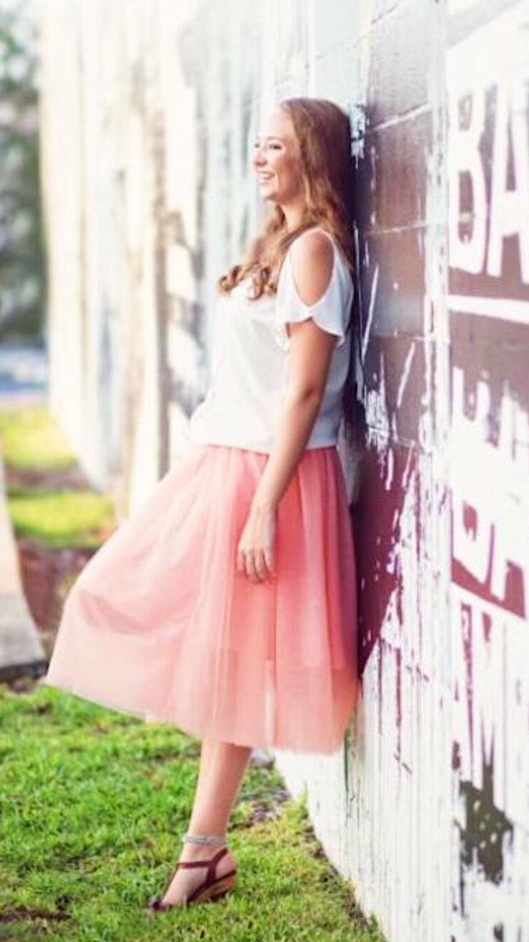 ce70f38a82 Colette Milky Pink Soft Tulle Skirt - Midi Engagement Outfits, Engagement  Photos, Skirt Fashion