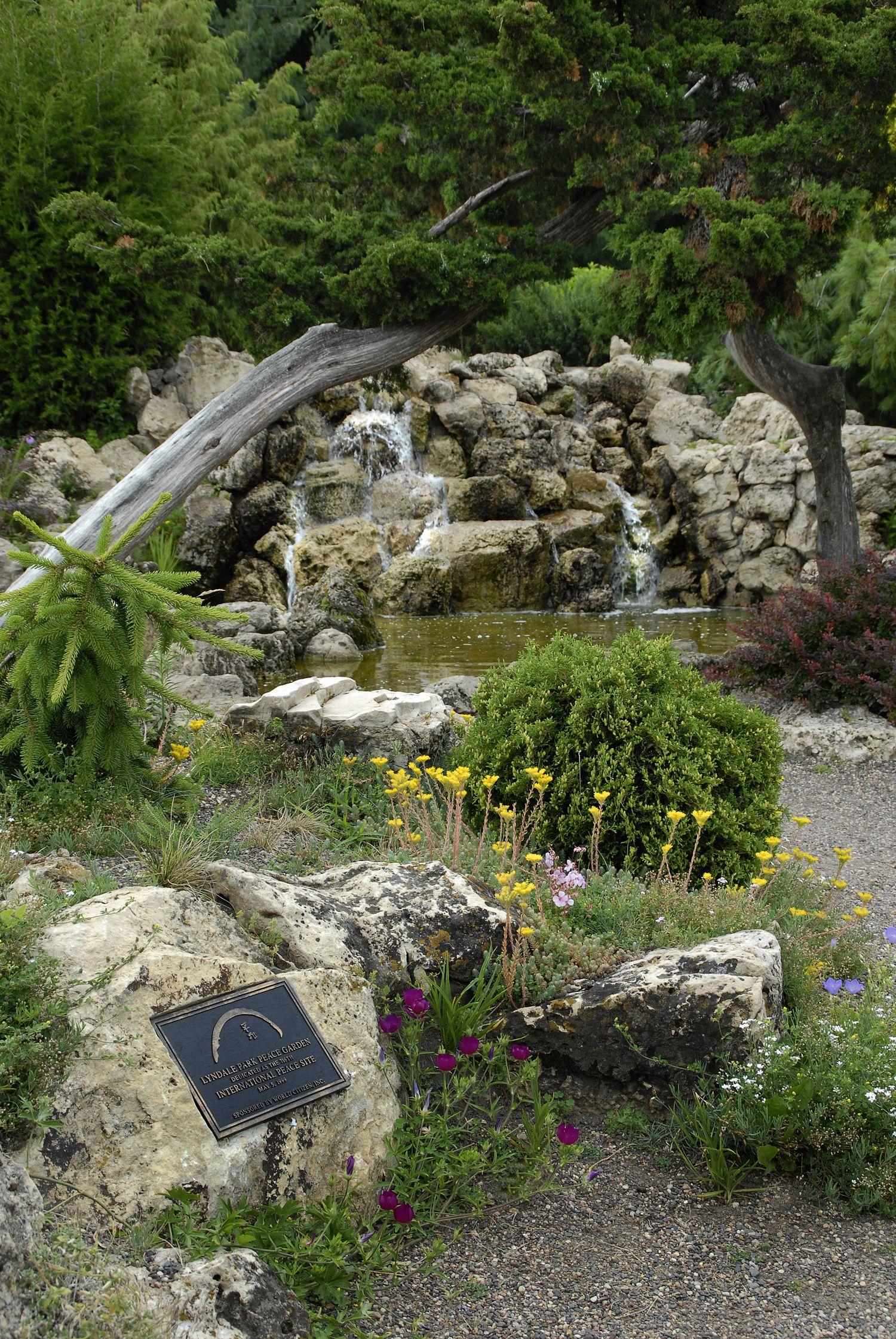 More Rock Waterfall   Lyndale Park Peace Garden