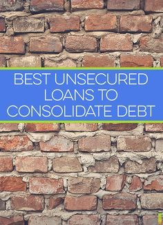 Best loan options for debt consolidation