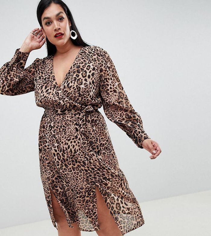 fc865bec922a 16 Plus-Size Holiday Dresses That Are Too Good to Pass Up. Boohoo Chiffon  Wrap Midi Dress