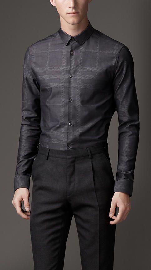 Slim Fit Cotton Check Shirt   Burberry   Men s Fashion   Lifestyle ... 4a4c018755c