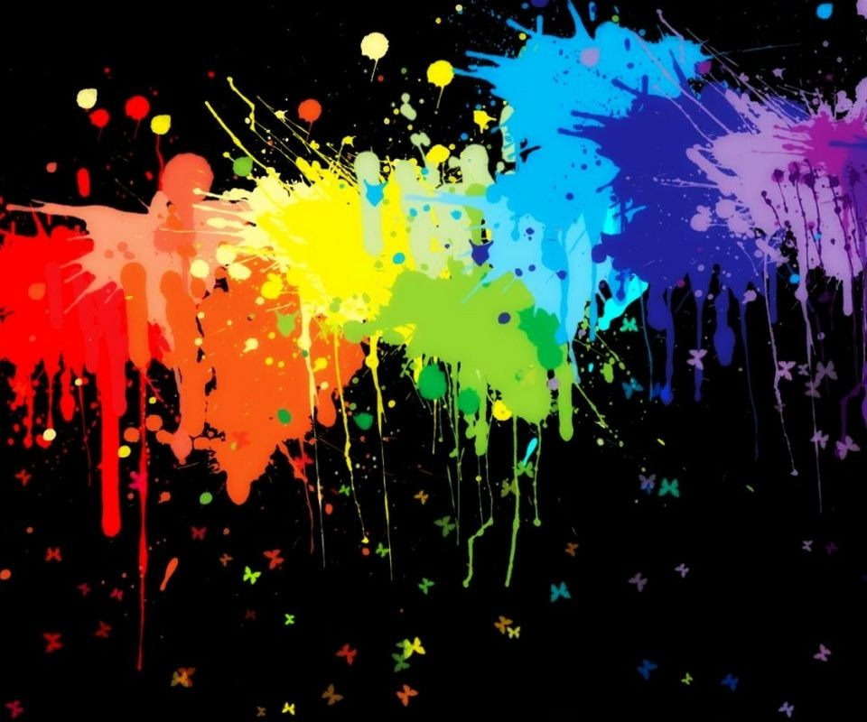 Rainbow Wallpaper, Painting
