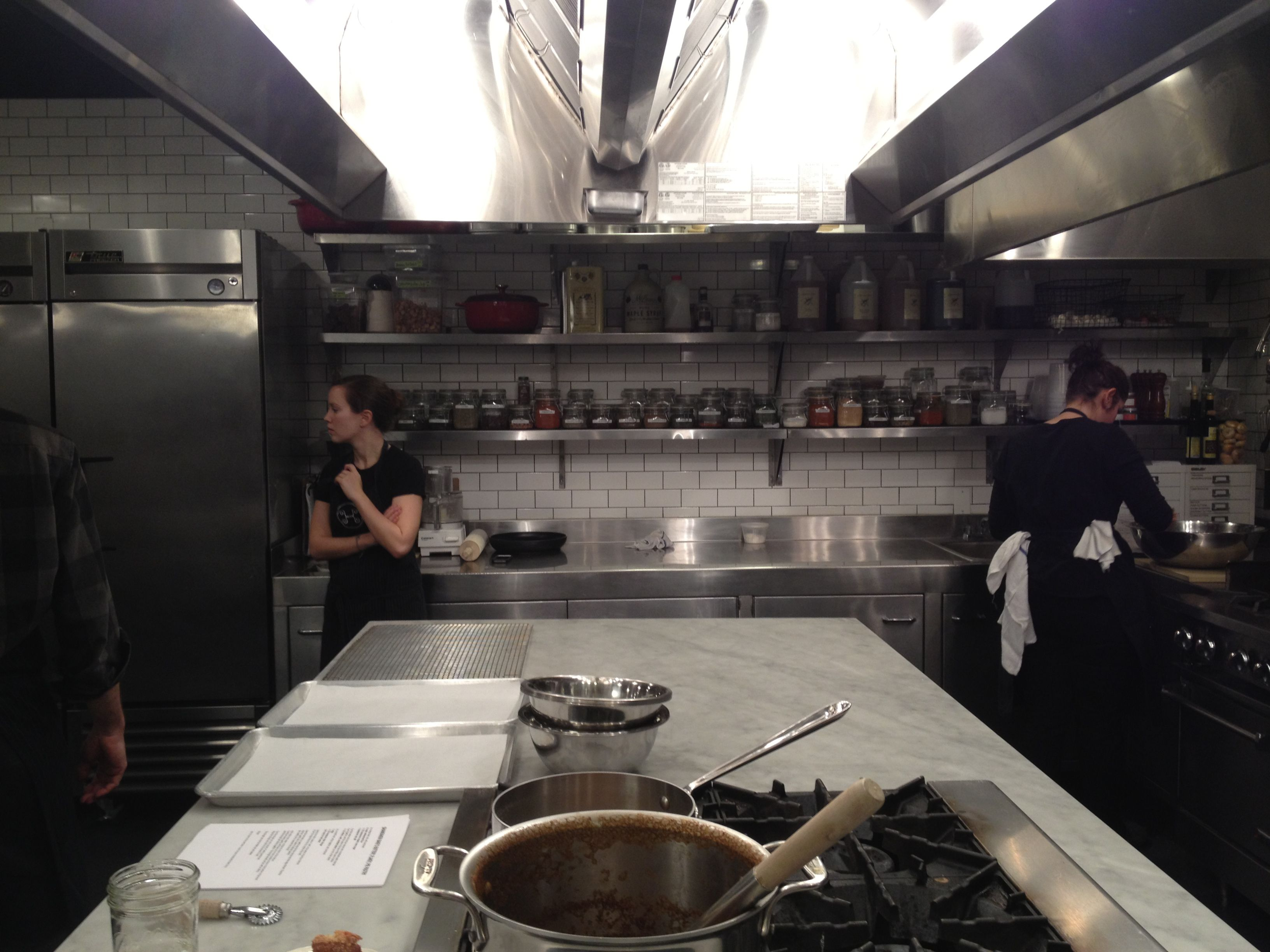 All Cooks Dream Realized In The New Kitchen At Meadowood: Haven's Kitchen Prep Area
