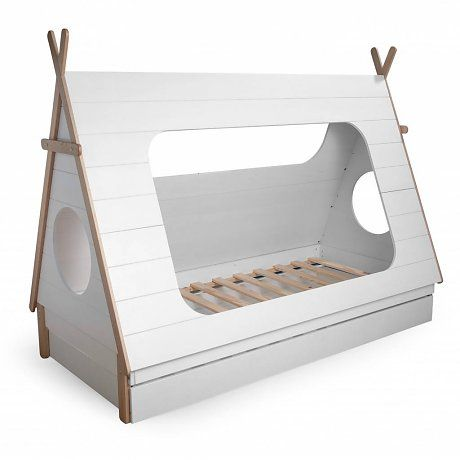 LEF collections Bedlade t.v.b. Tipi bed wit grenen 204,8x9x16cm ...