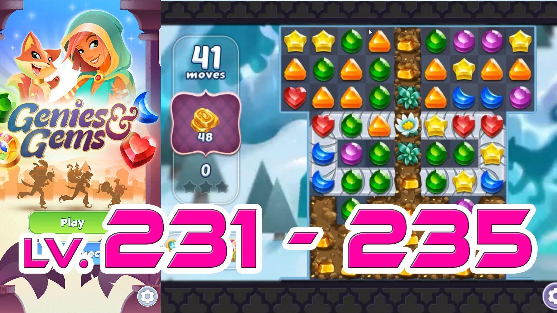 Genies & Gems - Level 231 - 235 (1080p/60fps) | Genies & Gems