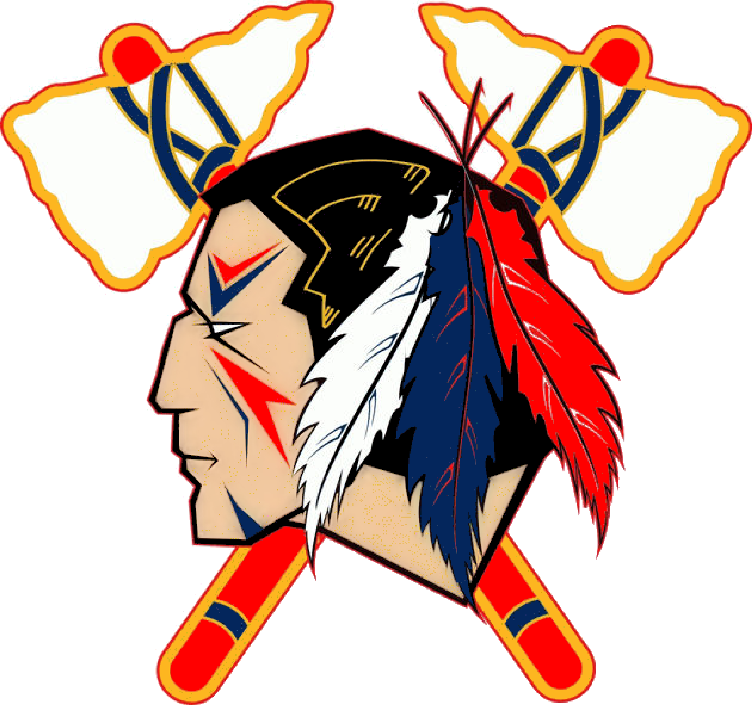 Indian Head Logo Clip Art Indians Tomahawk Image Clipart