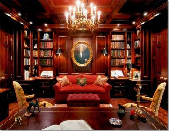 Classic library pinterest for Classic home library