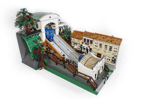 All Aboard The Zagreb Funicular The Brothers Brick Lego Village Lego Trains Lego Moc