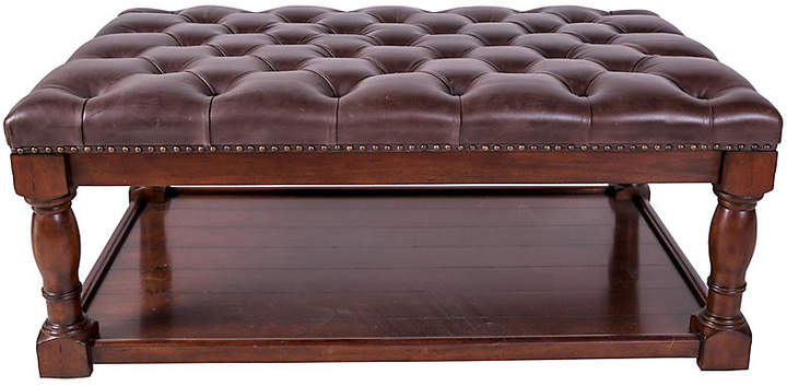 Baker Leather Tufted Ottoman Furniture Ottoman Furniture