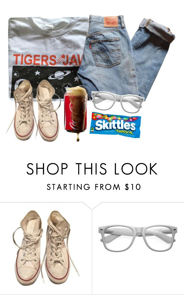 """""""What About Your Friends?"""" by spnlex ❤ liked on Polyvore featuring Levi's, Converse and Retrò"""
