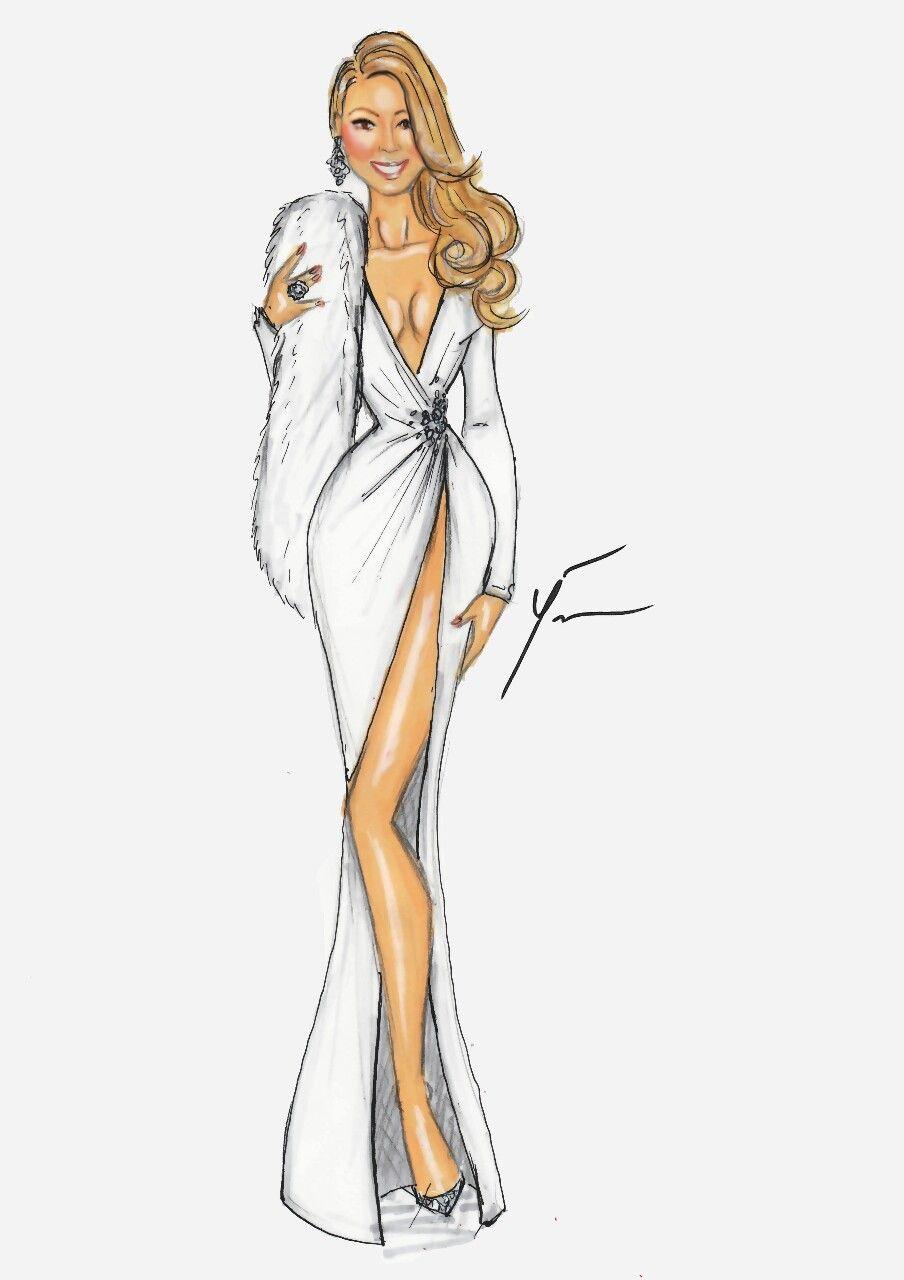 Fashion Sketches Dresses Mariah Carey
