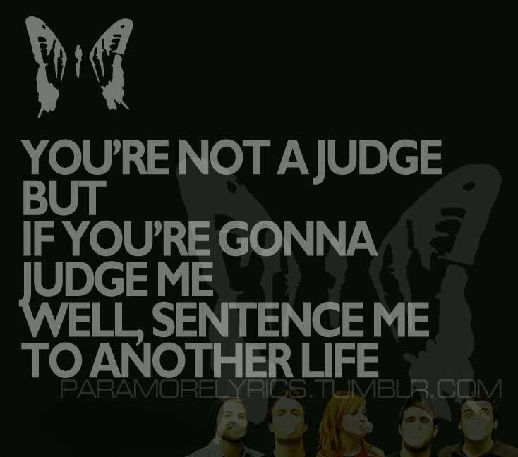 Paramore - Ignorance. . Brandon.   Lyrics   Lyrics ... Paramore Song Quotes