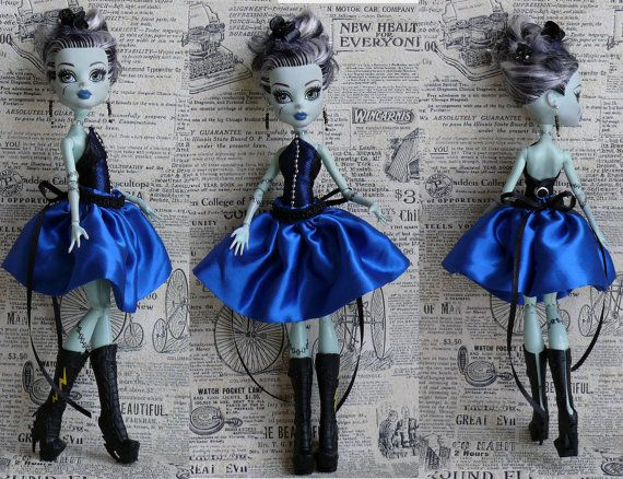 Monster High Clothes hand made Dress Jewelry by MonstersNight, $18.00