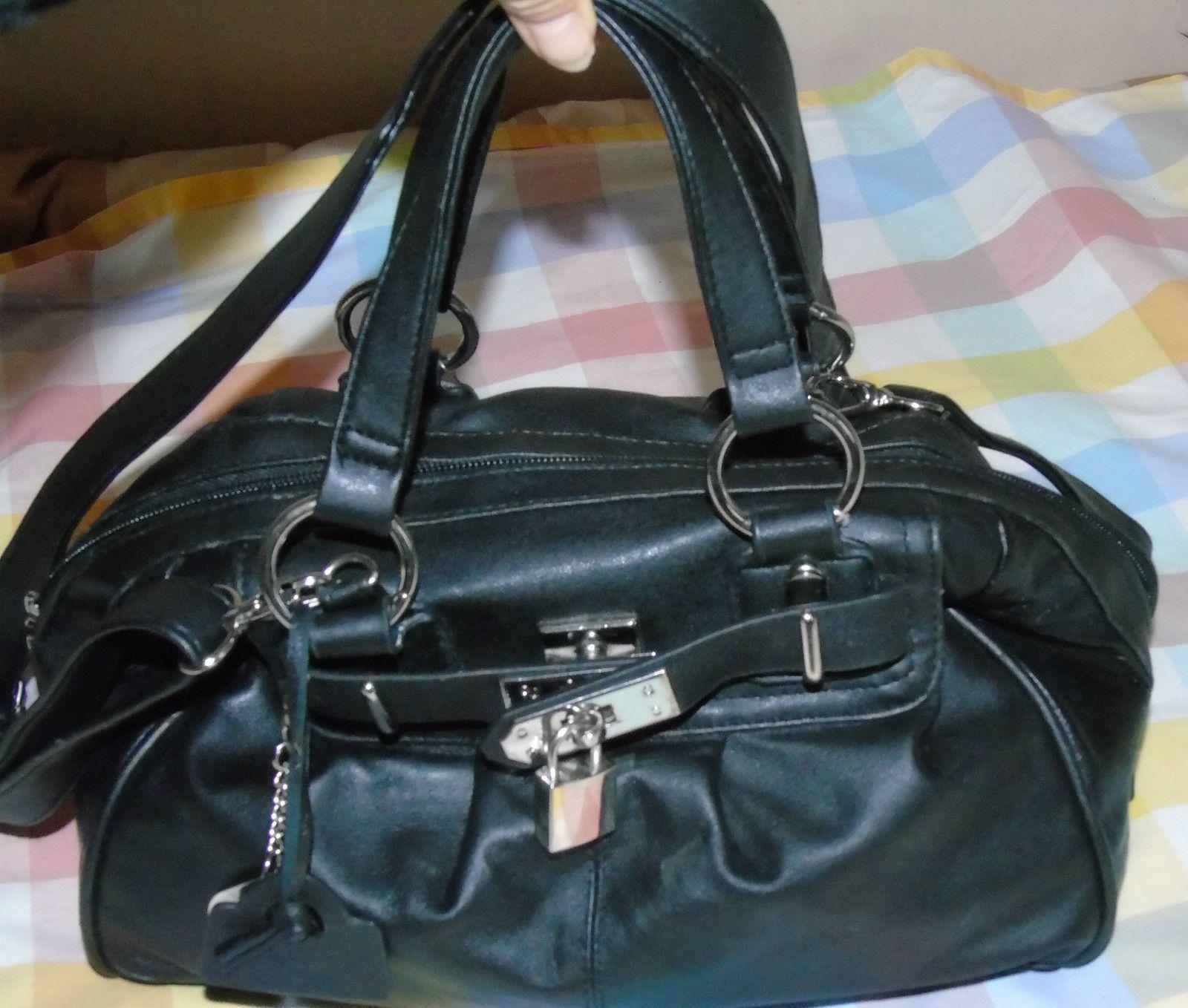 2f9a4887f DOMO LADIES HAND BAG. SUPER QUALITY. BLACK LEATHER SHOULDER CROSSBODY | eBay