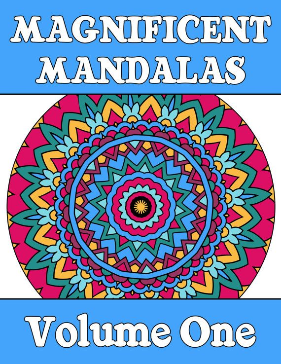 25 MANDALA COLORING Pages Adult Coloring Book Mindfulness ...