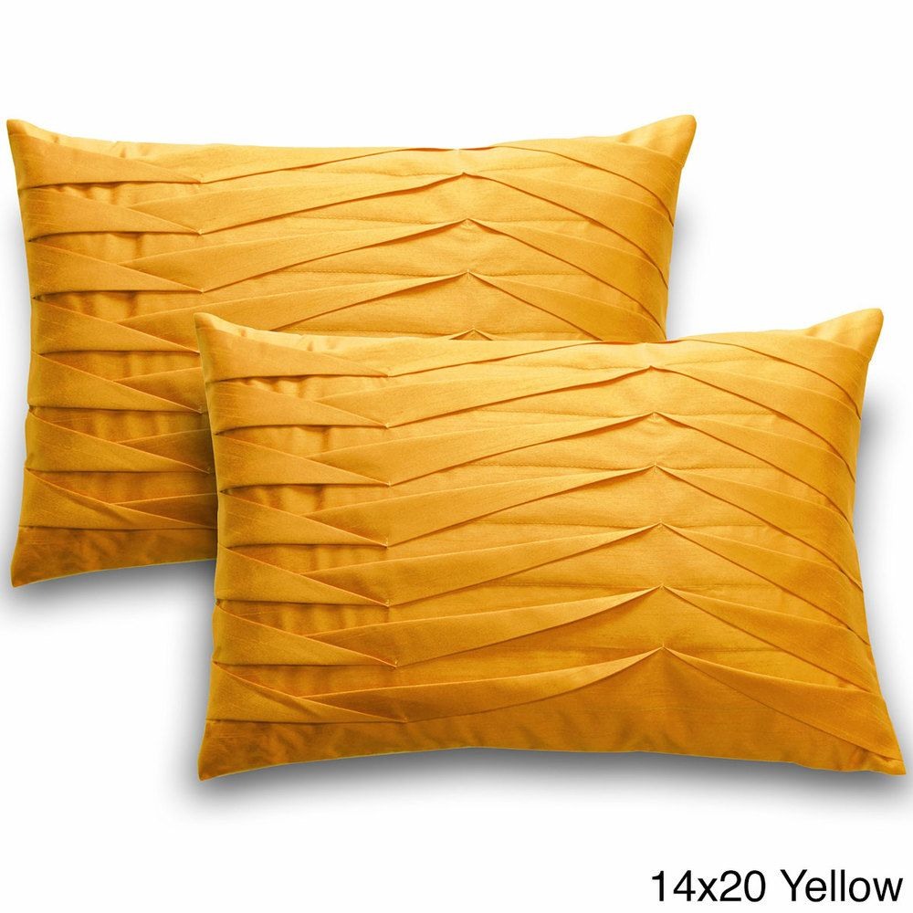 Solid Pleated Throw Pillows (Set of 2)