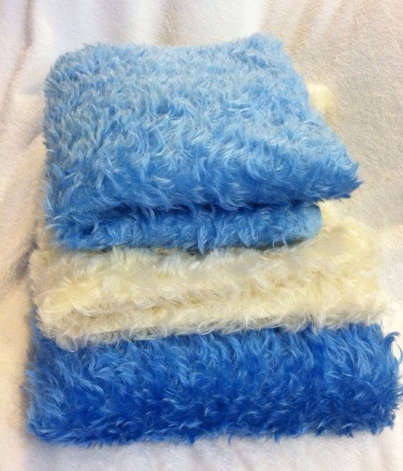 MOHAIR 1 4 yard Blue Fat Quarter White Fabric by DigitalDolls ... d080c8f8aa18