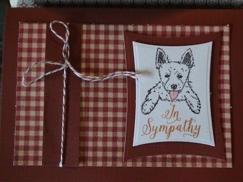 Sympathy #card I made #cardmaking #stamping #papercrafting #westie #westhighlandwhiteterrier #terrier #dog