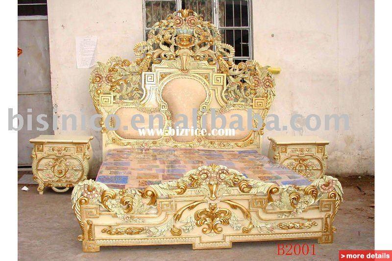 Antique Bed: European Classical& Antique Wooden Luxury Bedroom Set