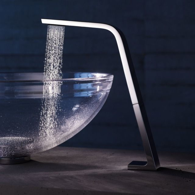 Soffio Clear Crystal Basin From Glass Design With CL.1 From Dornbracht