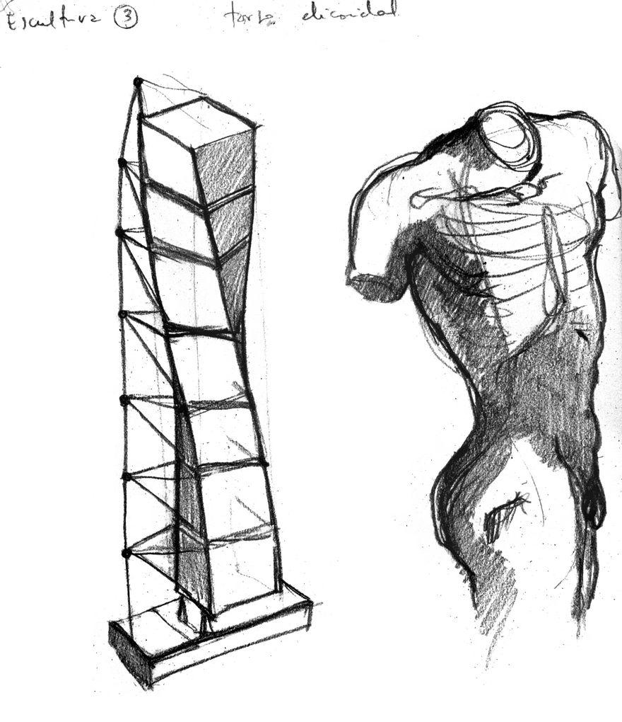 El Concepto En El Proceso Del Diseño Arquitectónico Male Torso - Modern building sketches
