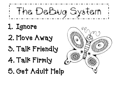 "classroom management strategy to teach students when another student is ""bugging"" them"