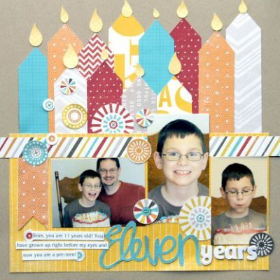 About Scrapbook Birthday Layouts Scrapbooking Pinterest