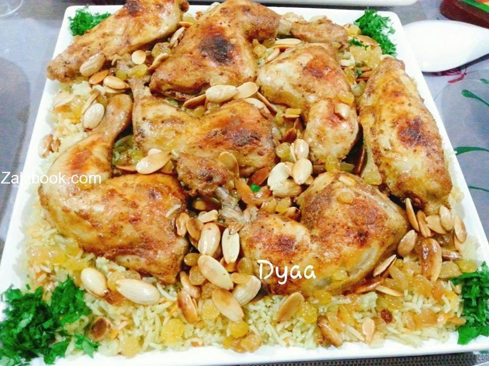 دجاج بالخلطة مع ارز مجبوس بالجزر زاكي Middle Eastern Recipes Cooking Recipes Cooking