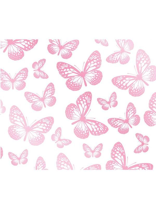 Carta Da Parati Farfalle Rosa 10mt Home Carta Da Parati Con