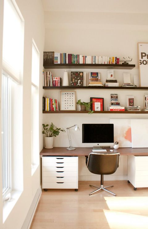 A Beautiful Office Knoll Pollock Shelves Modernalways Dark