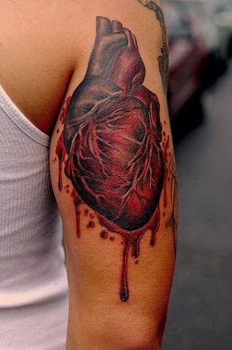 Anatomical Heart Tattoo Realistic Heart Tattoo Human Heart