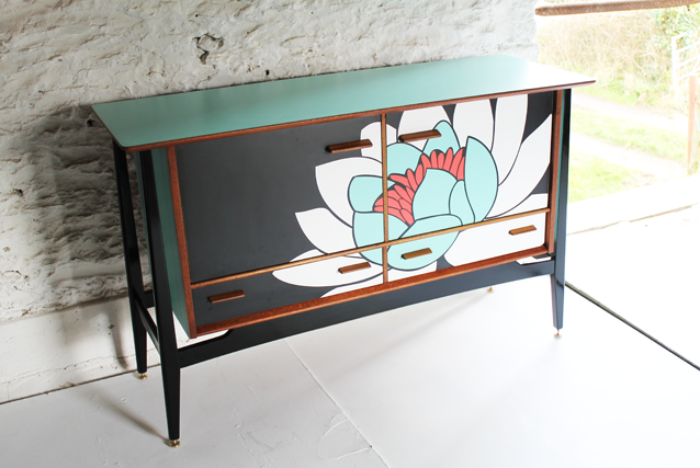 Captivating Colourful Furniture Modern Marquetry Lucy Turner