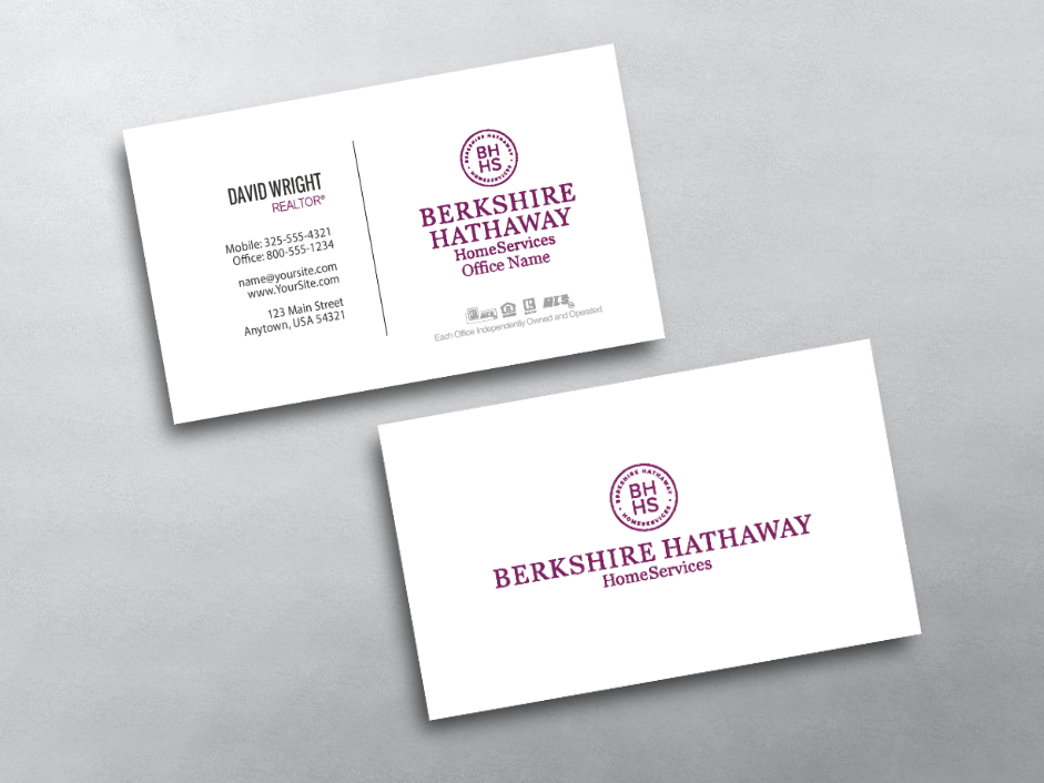 Order Berkshire Hathaway Business Cards Free Shipping Design Templates Berkshire Hathaway Business Car Free Business Cards Business Cards Template Design