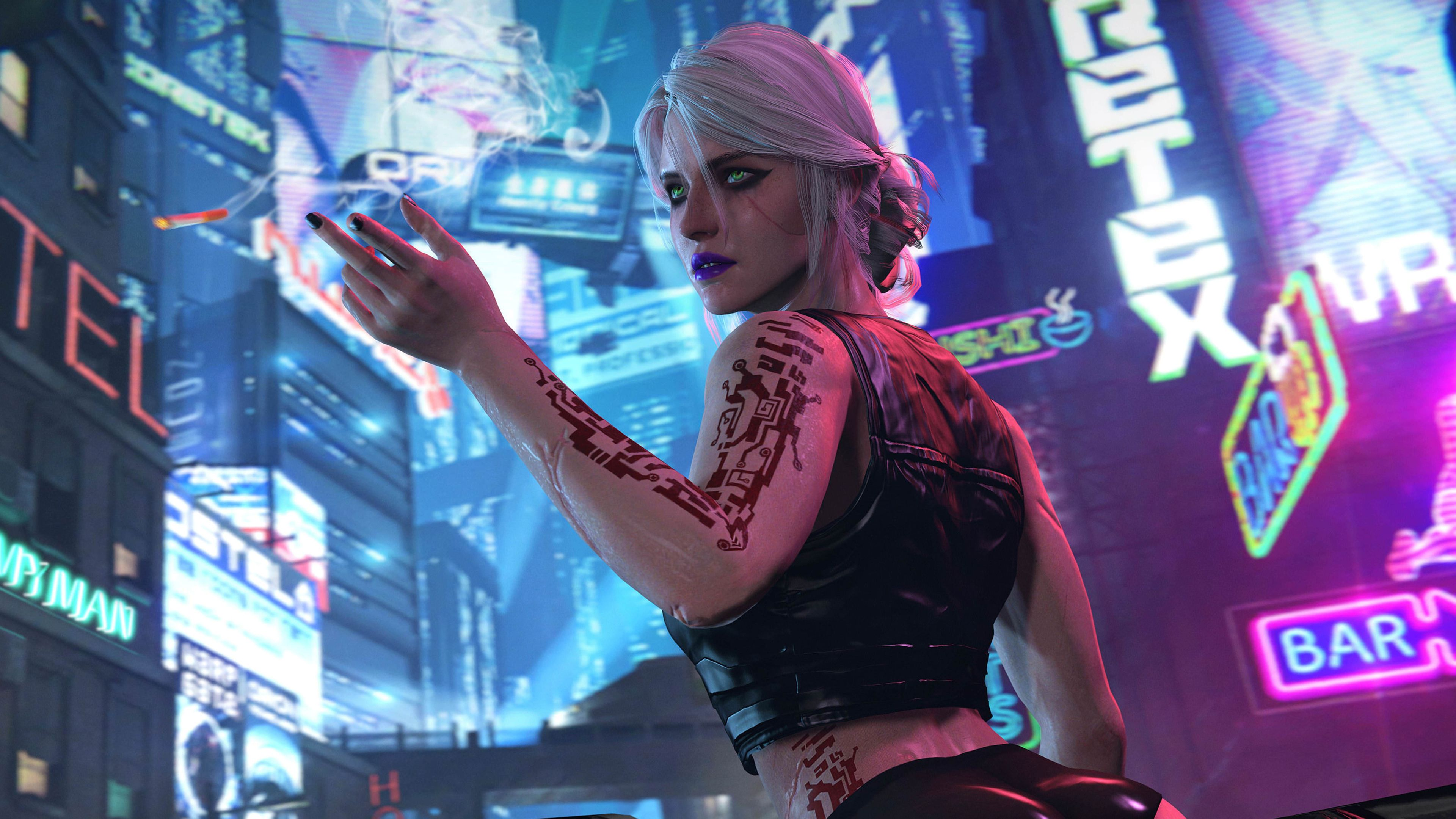Ciri Cyberpunk 2077 4k Xbox Games Wallpapers Scifi Wallpapers Ps Games Wallpapers Pc Games Wallpapers Neon Wallpape Pc Games Wallpapers Ciri Cyberpunk 2077