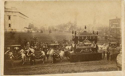 A Very Rare Carte De Visite Capturing Abraham Lincoln S Funeral