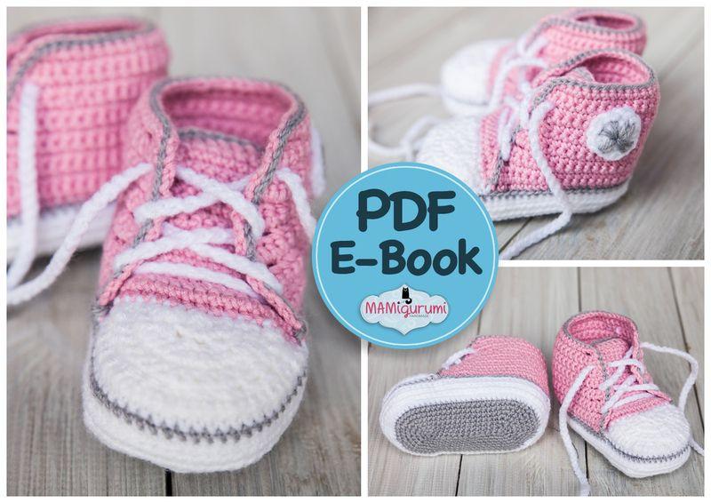 Häkelanleitung / e-book Baby Turnschuhe Babyschuhe von MAMIgurumi ...