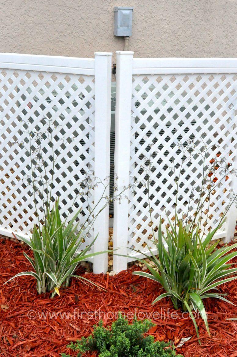 Diy ac unit cover of plastic privacy lattice screens diy