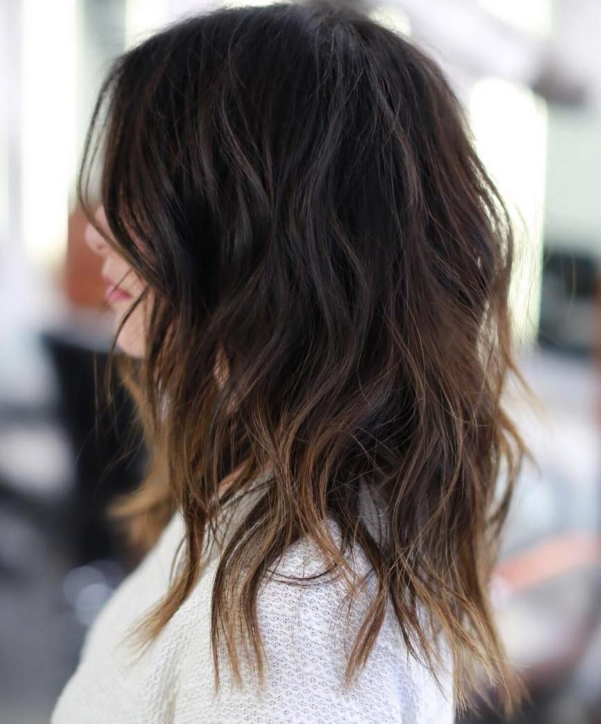 Honey Bronde Shaggy Hairstyle With Bangs Long Shag Haircut Long Face Hairstyles Long Fringe Hairstyles