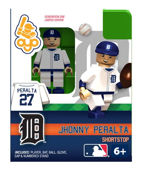 Jhonny Peralta Detroit Tigers, Minifigure Detroit