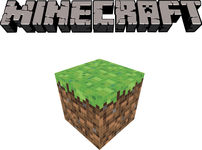 Minecraft Logo Vector by TheQZ Minecraft, Vetores