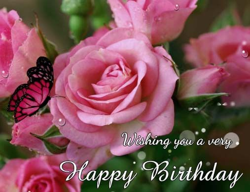 Butterfly Blessings Birthday Wishes Happy Birthday Flower Happy Birthday
