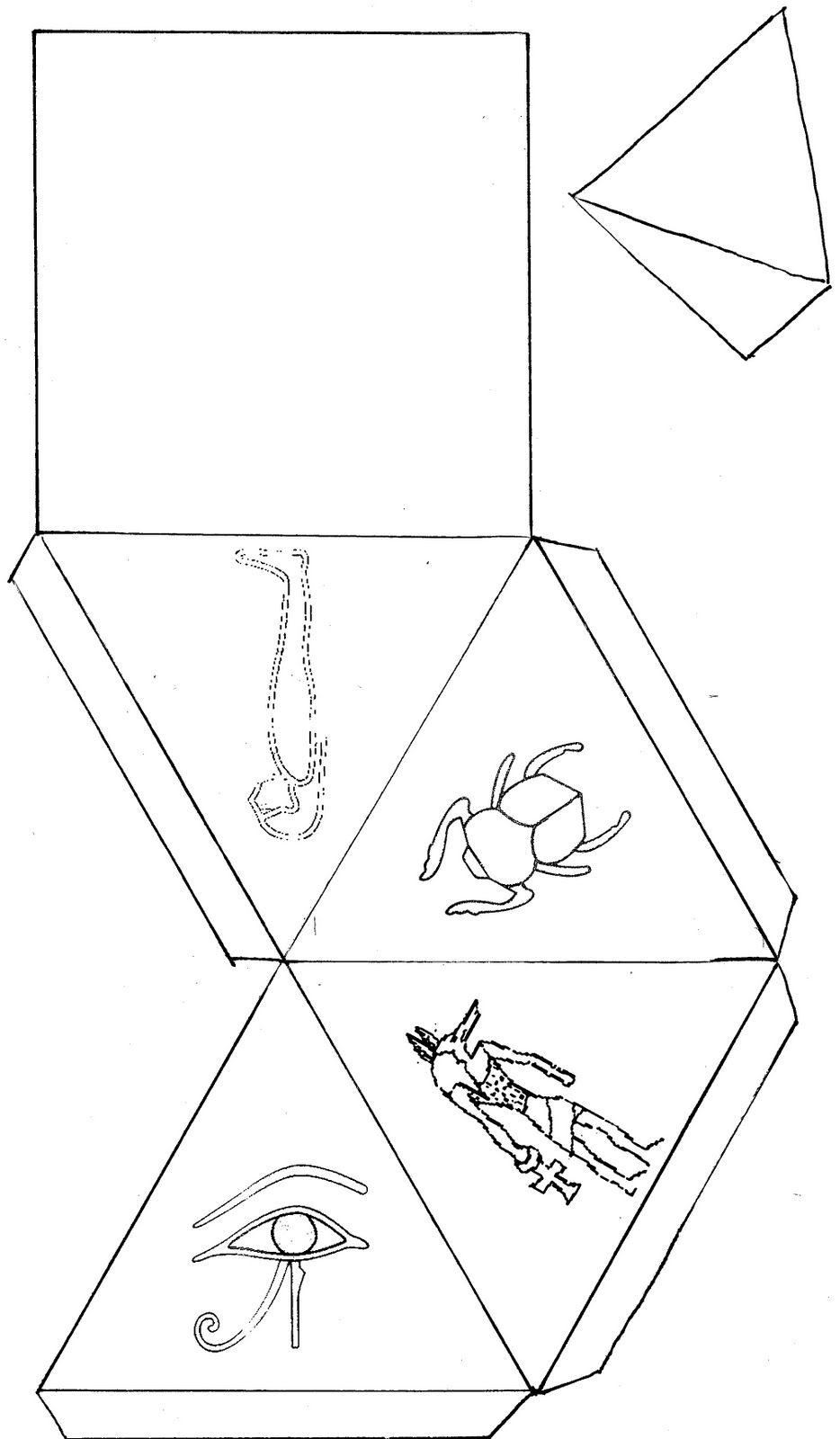 Piramide Plantilla Piramides De Egipto Piramides Egipcias Piramides De Egipto Dibujo