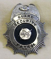 Rare, Early 1970's NASA Security Patrol Guard Hat Badge from Johnson Space Center
