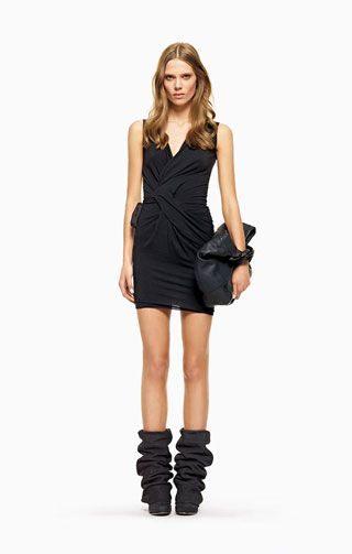 see by chloe  Mix viscose, polyamide, virgin wool and elastane jersey dress  Love the boots!