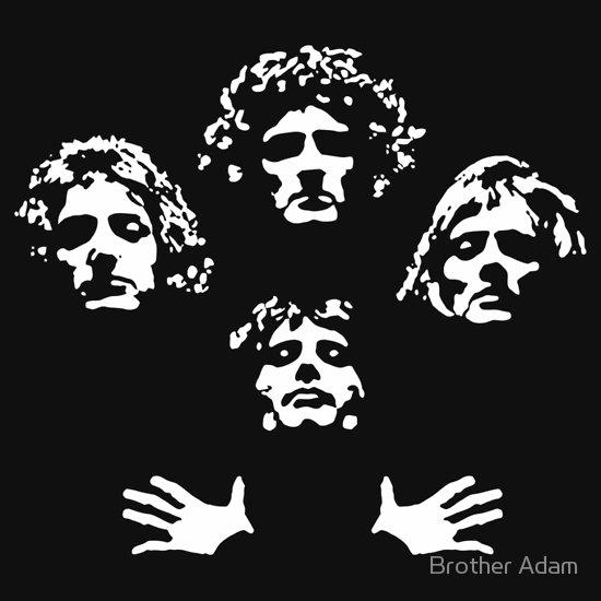 Queen Bohemian Rhapsody A T Shirt Of Graphic Cool Vintage Retro Vector White Music Clever Arte De Silueta Arte De Discos De Vinilo Carteles De Banda