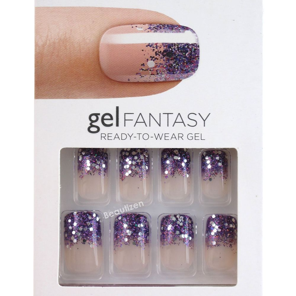 Kiss GEL Fantasy Glue on 24 Nails Kit Medium KGN 52 | Kiss ...