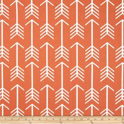 Premier Prints Orange Arrow Fabric Premier Prints by stitchave