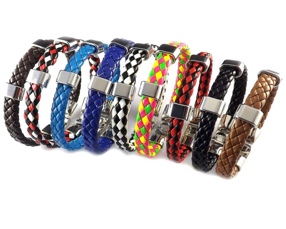 Men womenus pu leather bracelet brass clasp bracelet many colors for